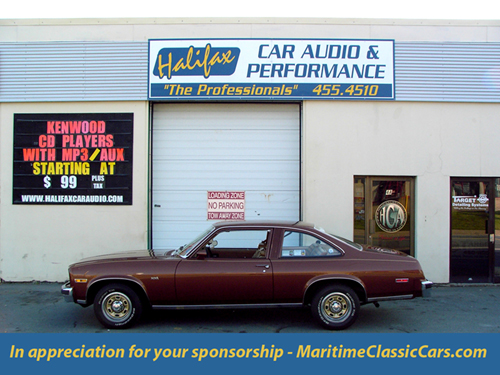 Halifax Car Audio sponsorship plaque